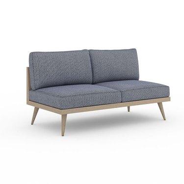 Armless outdoor sofa