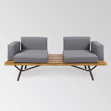 Split cushion outdoor couch