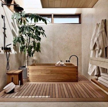 Japanese-inspired bathroom