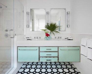 mint green retro bathroom vanity