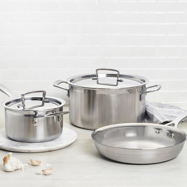 le creuset factory to table sale 5-Piece Stainless Steel Set