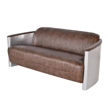 Rounded industrial couch