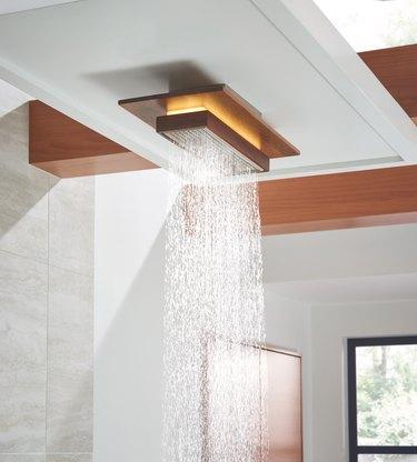 frank lloyd wright inspired showerhead