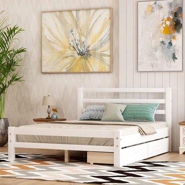 Baysitone Platform Bed Frame with Storage Drawers