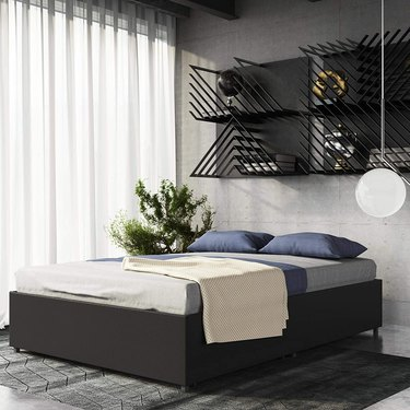 DHP Maven Faux Leather Platform Bed with Under Bed Storage