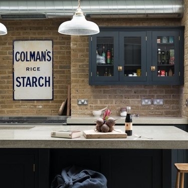industrial kitchen with concrete countertop
