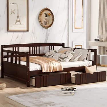 Harper & Bright Designs Daybed Frame with Drawers