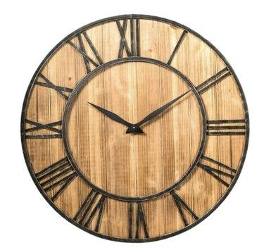 Rustic Industrial Wood Clock