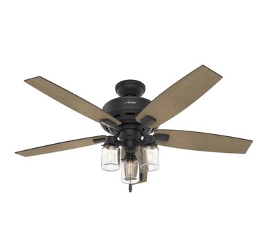 Lincoln Natural Iron LED Ceiling FAn
