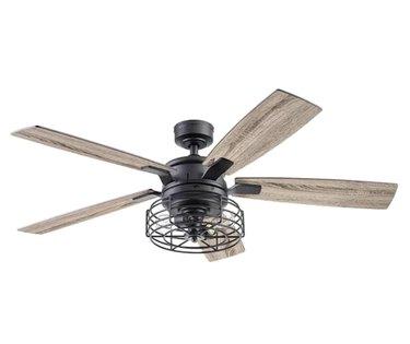 Cedar Bluff Matte Black Indoor Ceiling Fan