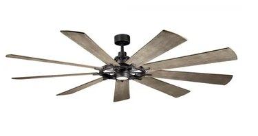 Gentry XL LED in Ceiling Fan in Anvil Iron