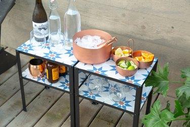 outdoor bar table IKEA hack