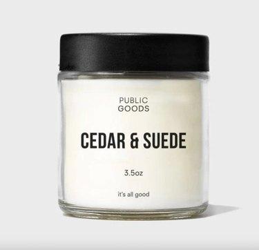 Public Goods Cedar & Suede Candle