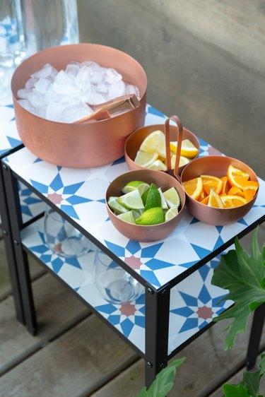 IKEA hack outdoor bar table