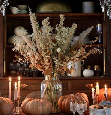 fall cottagecore tablescape