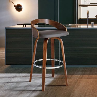 Fabric and wood counter stool