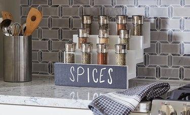 spice rack ideas DIY tiered rack