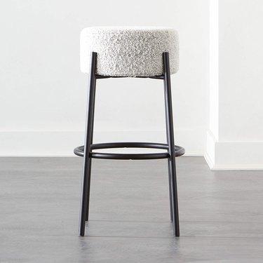 Fabric bar stool