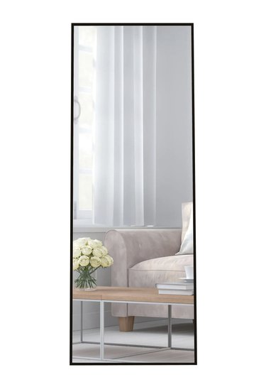 Miscool Lester Aluminum Alloy Framed Full Length Standing Mirror