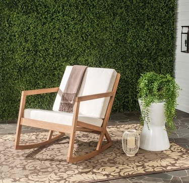 Outdoor chair with greenery