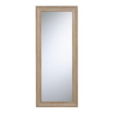 Overstock Light Natural Wood Frame Full Length Mirror