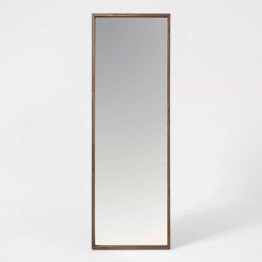 Project 62 Walnut Hairpin Finish Floor Mirror