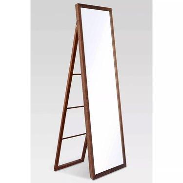 Threshold Wooden Frame Mirror with Ladder