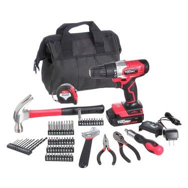 Hyper Tough 70 piece drill set hammer screwdriver wrench pliers storage bag