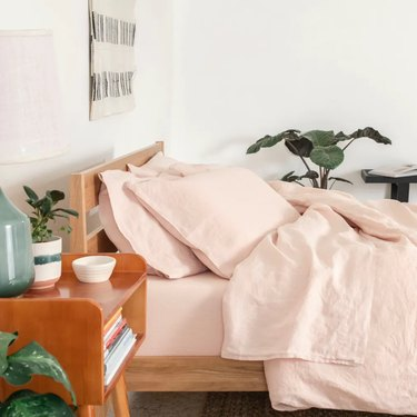 Rose pink linen set