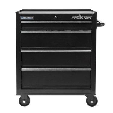 black steel tool cabinet organizer