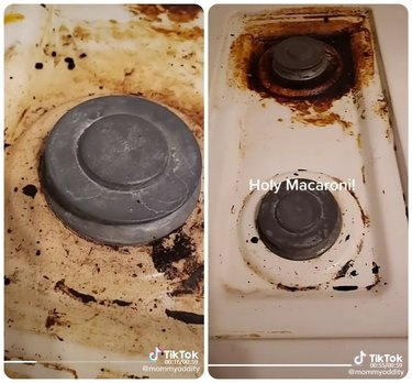 Stovetop before-and-after
