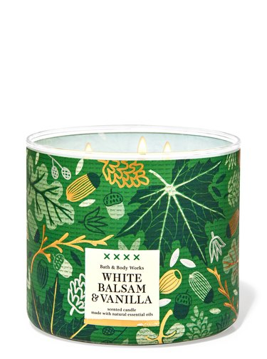 White Balsam and Vanilla Candle