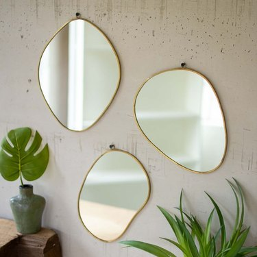 3 amoeba shaped mirrors