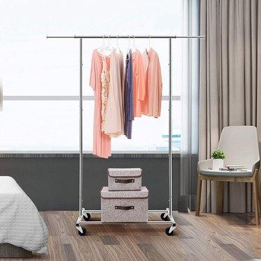 Standard Rod Clothing Garment Rack, $37.97