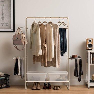 IRIS Large Metal Garment and Accessories Rack, $64.99