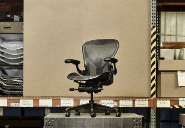 herman miller ocean-bound plastic aeron chair