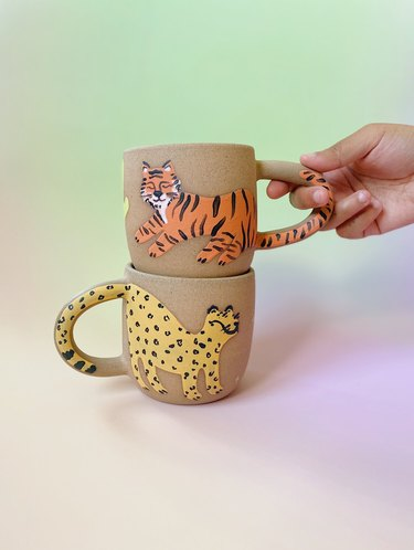 from tree to sea tiger mugs