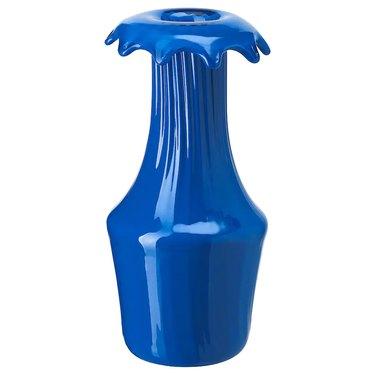 sculptural blue vase