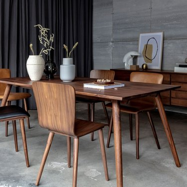 Aurora Rectangle Dining Table, Walnut, $1,099