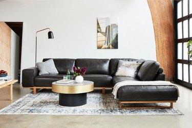 Hauser 2pc Leather Sectional Sofa, $3,780.80
