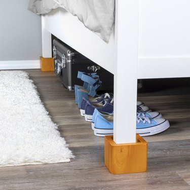 under bed storage ideas wooden bed frame risers