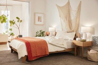 cozy, neutral bedroom
