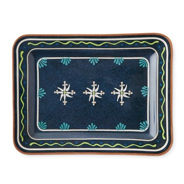 Blue and green platter