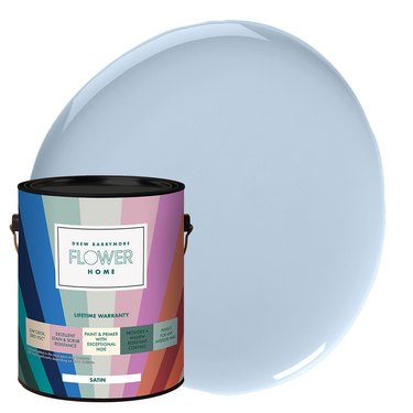 Flower Home Paint in Sitting Room Blue