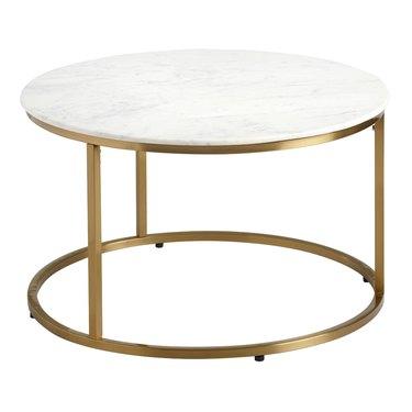 World Market Round White Marble Milan Coffee Table