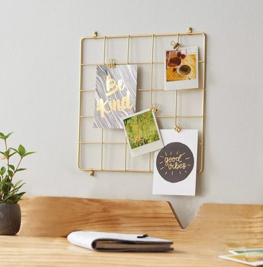 target gold wire grid with clips