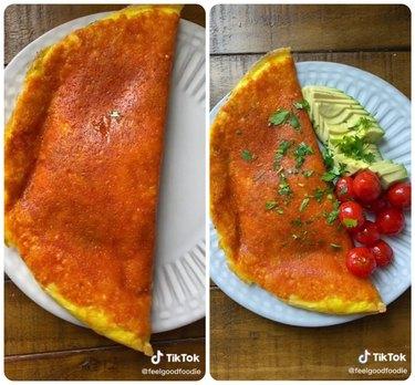 Inside-out omelet