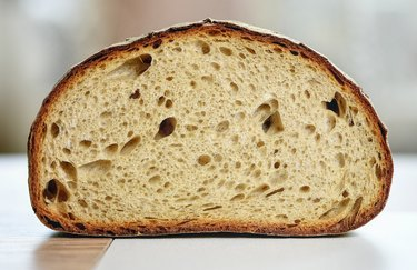 bread with airy holes