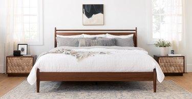 article midcentury modern bedroom Geome 2-Drawer Nightstand