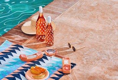 Summer Water wine by pool
